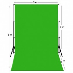 Louer Fond vert Kit Chromakey Vert 3M X 6M