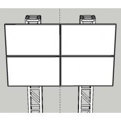 Location, mur d'images, écrans led de 3m de diagonale, avec processeur