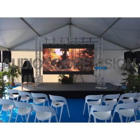 Louer Ecran led plein jour extérieur grand écran 2m x 1m Cannes Nice Monaco Marseille prestataire audiovisuel captation multicam