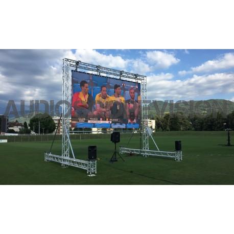 Louer Ecran led 3.5m x 2m plein jour extérieur grand écran mur led écran géant mur d'images Aix en Provence prestataire audiovi