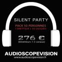 Louer Pack Silent Party Disco 50 personnes, émetteur 3 canaux