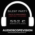 Louer Pack Silent Party Disco 50 personnes, émetteur 10 canaux