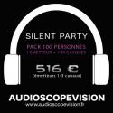 Louer Pack Silent Party Disco 100 personnes, émetteur 3 canaux