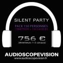 Louer Pack Silent Party Disco 150 personnes, émetteur 3 canaux