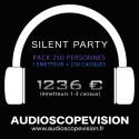 Louer Pack Silent Party Disco 250 personnes, émetteur 3 canaux