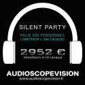 Louer Pack Silent Party Disco 300 personnes, émetteur 10 canaux