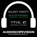 Louer Pack Silent Party Disco 350 personnes, émetteur 3 canaux