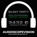 Louer Pack Silent Party Disco 350 personnes, émetteur 10 canaux