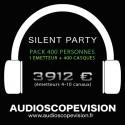 Louer Pack Silent Party Disco 400 personnes, émetteur 10 canaux