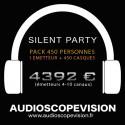 Louer Pack Silent Party Disco 450 personnes, émetteur 10 canaux