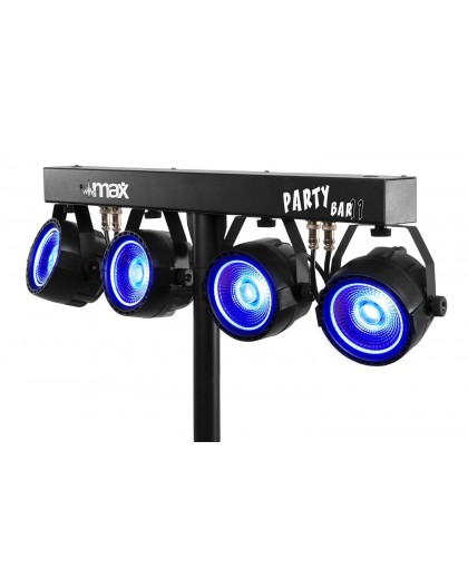 Location set complet de 4 projecteurs Leds avec pied jeu de lumière barre équipée de par led COB 20W pour soirée Marseille Aix