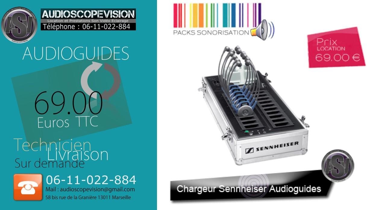 Louer audioguides, chargeur pour visite guidée, casque visite guidée, Marseille