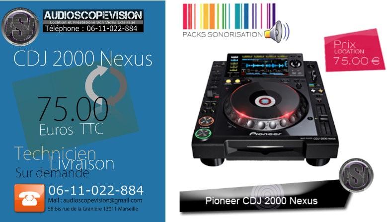 Louer cdj 2000 nexus, pioneer, cdj2000, nexus, Marseille
