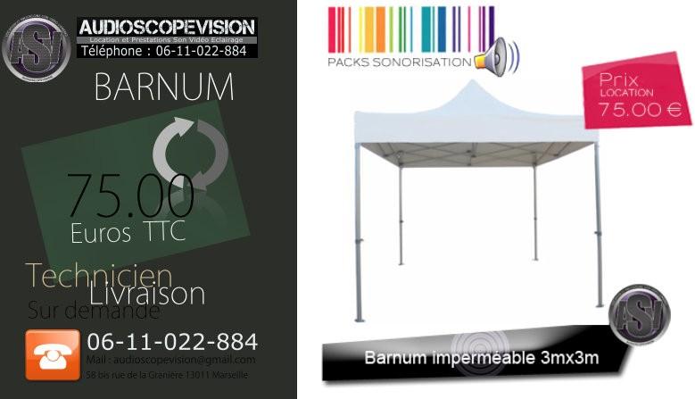 Louer Barnum, tente, tonelle, tonnelle, 3mx3m, 3x3, 3m x 3m, Marseille, 13